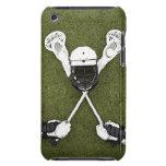 Palillos de LaCrosse, guantes, bolas y casco de lo Barely There iPod Carcasas