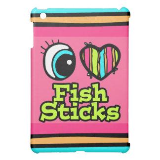 Palillos de pescados brillantes del amor del coraz