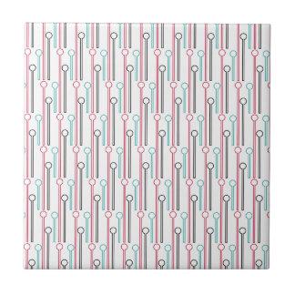 Palillos de Swizzle en colores pastel retros del Azulejo Cuadrado Pequeño