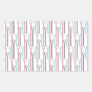 Palillos de Swizzle en colores pastel retros del Pegatina Rectangular