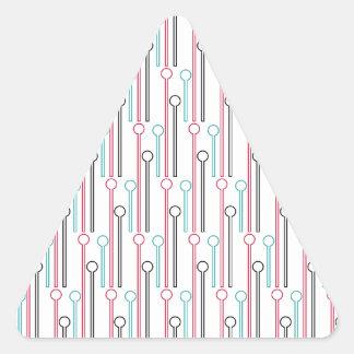 Palillos de Swizzle en colores pastel retros del Pegatina Triangular