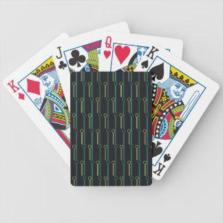 Palillos de Swizzle retros del oro del negro del Baraja Cartas De Poker