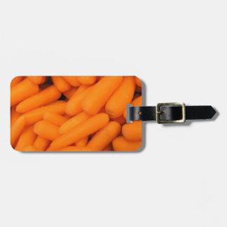Palillos de zanahoria etiquetas de equipaje
