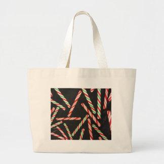 Palillos del bastón de caramelo de hierbabuena bolsa tela grande