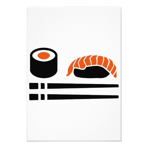 Palillos del sashimi del sushi invitación personalizada
