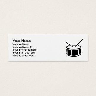Palillos del tambor tarjetas de visita mini