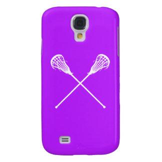 Palillos vivos de HTC LaCrosse púrpuras Funda Para Galaxy S4