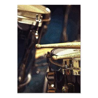 Palillos y Drumset Invitación 12,7 X 17,8 Cm