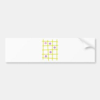 Palillos y mármoles etiqueta de parachoque