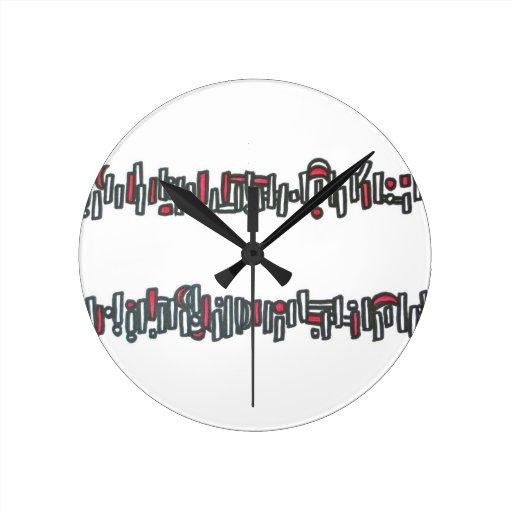 Palillos y piedras - reloj del arte abstracto