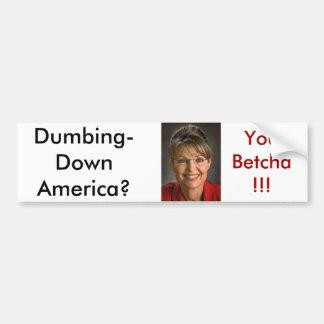 Palin1 Car Bumper Sticker