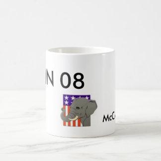 PALIN 08, McCAIN too Classic White Coffee Mug