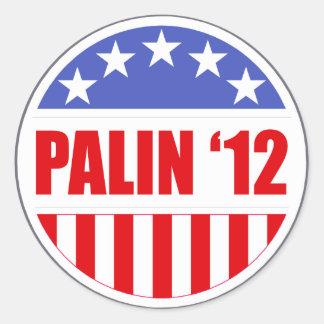 Palin '12 etiquetas redondas