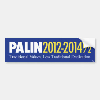 Palin 2012-2014 1/2 bumper sticker