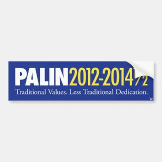 Palin 2012-2014 1/2 car bumper sticker
