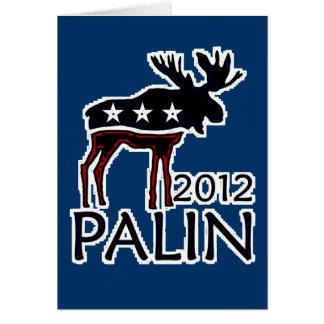 Palin 2012 alces tarjeta de felicitación