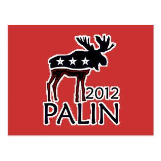 Palin 2012 alces tarjetas postales