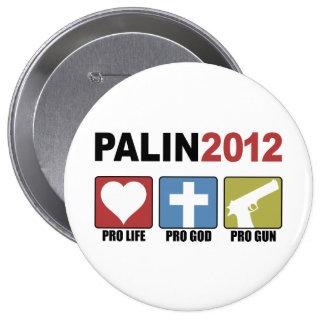 Palin 2012 pinback buttons