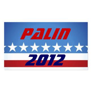 Palin 2012 distribuye tarjetas tarjeta de visita