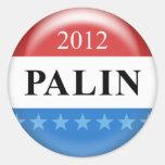 Palin 2012 etiquetas redondas