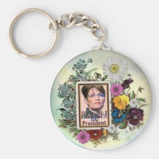 Palin 2012 Flower keychain