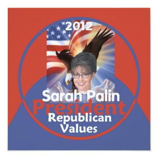 """Palin 2012 Invitation 5.25"""" Square Invitation Card"""