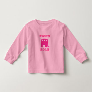 Palin 2012 Pink Elephants Toddler T-shirt