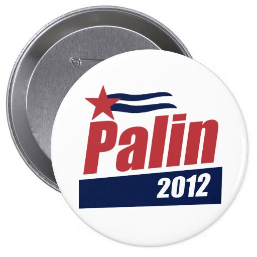 Palin 2012 Poster red Button
