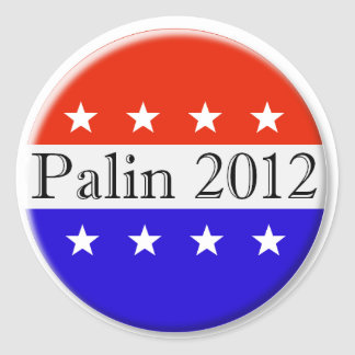 Palin 2012 red white and blue button stickers