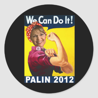 Palin 2012 Rosie the Riveter Poster Stickers