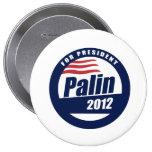 Palin 2012 round blue pin