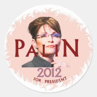 Palin 2012 Round Stickers