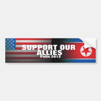 Palin 2012 - Support our allies Car Bumper Sticker