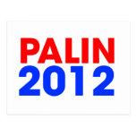 Palin 2012 tarjetas postales