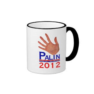 Palin 2012 taza de dos colores