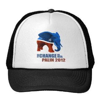 Palin 2012 The Change we Need Trucker Hat