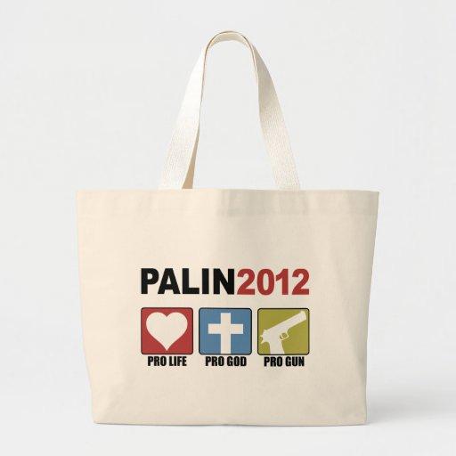 Palin 2012 tote bags