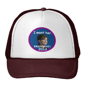 Palin 2012 trucker hat