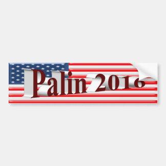 PALIN 2016 Bumper Sticker, Burgundy 3D,Old Glory Car Bumper Sticker