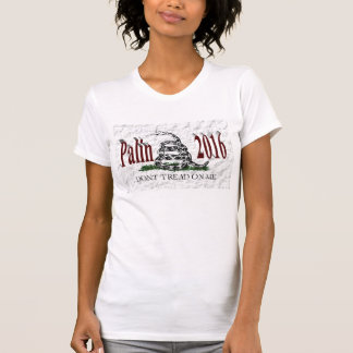 PALIN 2016 Shirt, Burgundy 3D, White Gadsden T-Shirt