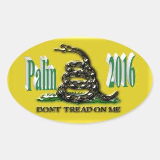 PALIN 2016 Sticker, Blue-Green 3D, Gadsden Oval Sticker