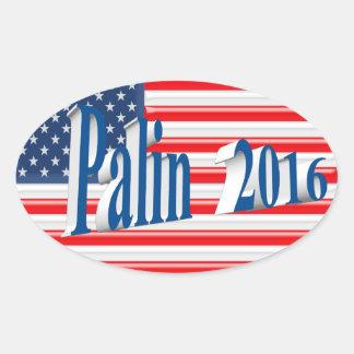 PALIN 2016 Sticker, Sea Blue 3D, Old Glory Oval Sticker