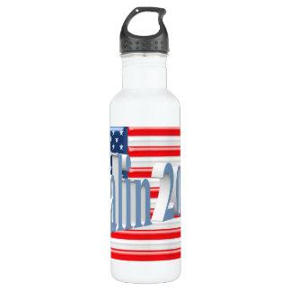 PALIN 2016 Water Bottle, Powder Blue 3D, Old Glory Stainless Steel Water Bottle