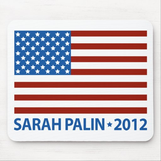Palin American Flag Mouse Pad
