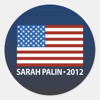 Palin American Flag Round Sticker