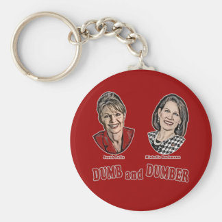 Palin and Bachmann Dumb and Dumber Basic Round Button Keychain
