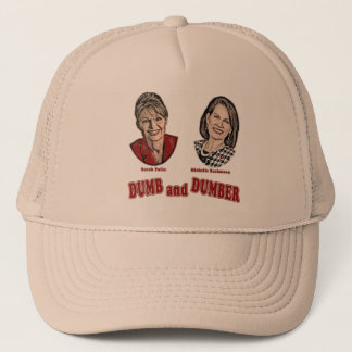 Palin and Bachmann Dumb and Dumber Trucker Hat