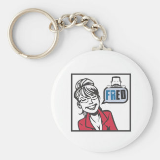 Palin and Fred Basic Round Button Keychain