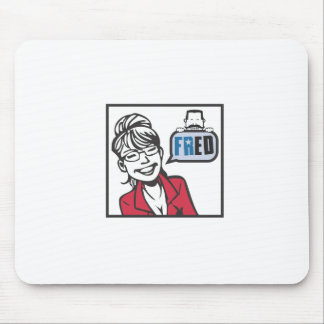 Palin and Fred Mouse Pad
