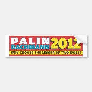 Palin Bachmann 2012 Etiqueta De Parachoque